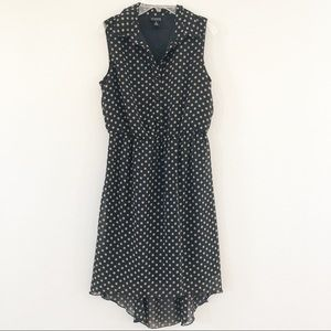 EnFocus Studio Black Dress w Beige Polka Dots 6